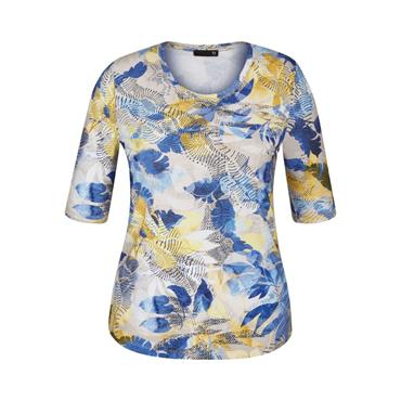 RABE Beige, Blue and Yellow Top