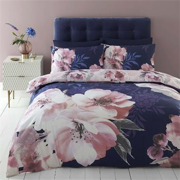 Dramatic Floral Navy Duvet Set by Catherine Lansfield