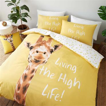 Catherine Lansfield Yellow Giraffe Duvet Cover Set