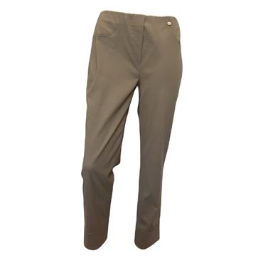 ROBELL Bella-09 Jean 7/8 length with Rear Pockets Taupe