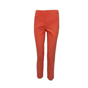 ROBELL Bella-09 Jean 7/8 length with Rear Pockets - Coral