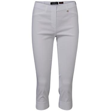 ROBELL Marie-07 Capri White Trousers
