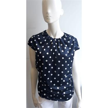 Navy Polka Dot Skarlett Top