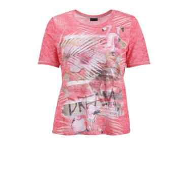 Short Sleeeve T-Shirt with Flamingo Design