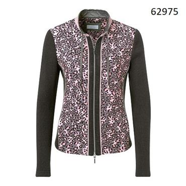Just White Jacket with Abstract Animal Print