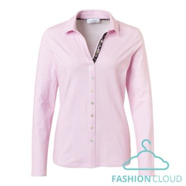 Just White Blouse with Pink & White Oxford Check
