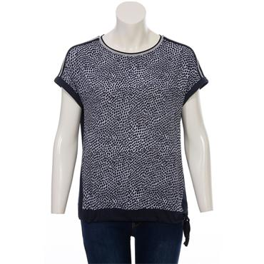 Navy and Blue Top by Via Appia