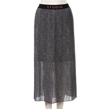 Black & Grey Print Skirt by Via Appia