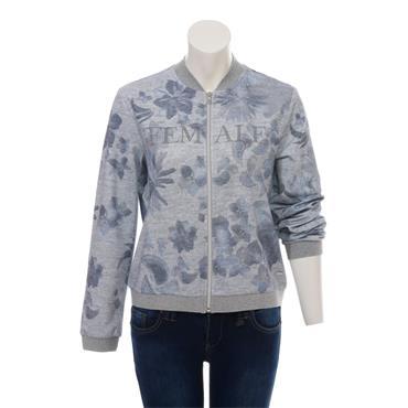 Grey & Blue Floral Jacket Via Appia