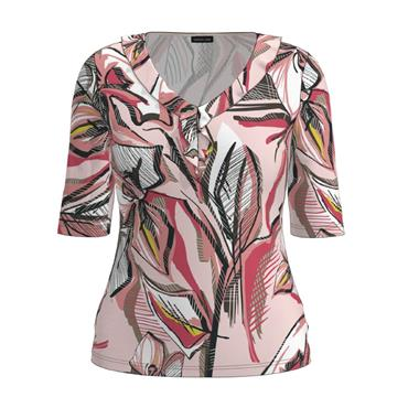 Barbara Lebek Dusky Pink & Black Short Sleeve Top
