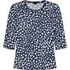 Barbara Lebek Navy & White Short Sleeve Top