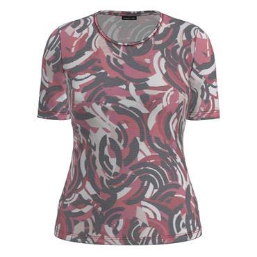 Barbara Lebek Red, Black & Cream Short Sleeve Top