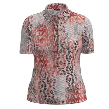 Barbara Lebek Coral, Wine & White Polo Shirt