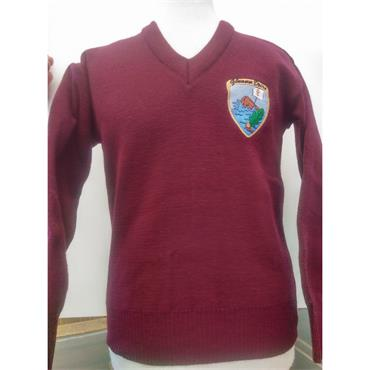 Glenderry V-Neck Sweater Wine