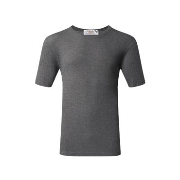 Mens Thermal Short Sleeve Top - Charcoal
