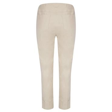 ROBELL Bella-09 Jean 7/8 length with Rear Pockets - Light Taupe