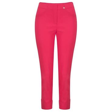 ROBELL Bella-09 Jean 7/8 length with Rear Pockets - Hot Pink