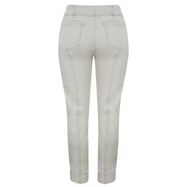 ROBELL Bella-09 Jean 7/8 length with Rear Pockets - Light Grey