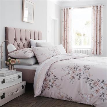 Catherine Lansfield Canterbury Glitter Easy Care Duvet Cover