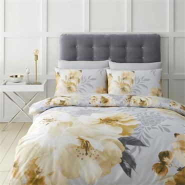 Dramatic Floral Ochre Duvet Set by Catherine Lansfield