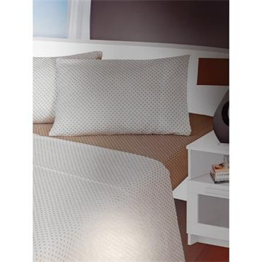 Spots Design Beige Flannelette Sheet Sets
