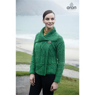 Aran Woolen Mills Cardigan - Kiwi
