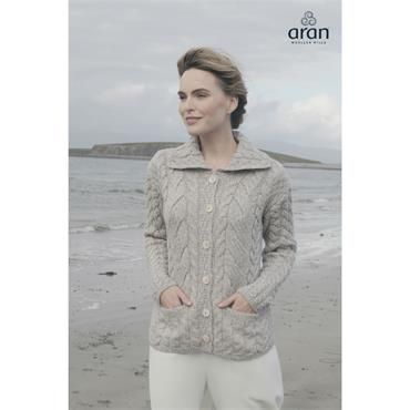 Aran Woolen Mills Cardigan - Toast Oat
