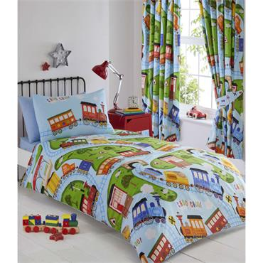Trains Duvet Cover Set from Portfolio Kids Club Collection