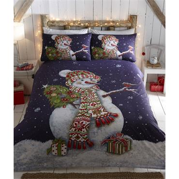 Happy Snowman Duvet Set