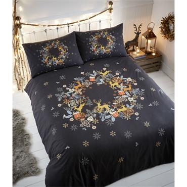 Holly Wreath Duvet Set