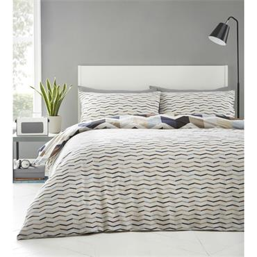Zig Zag Duvet Set - Natural