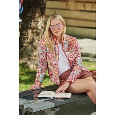 Coral Puffa Style Short Reversible Jacket by Barbara Lebek
