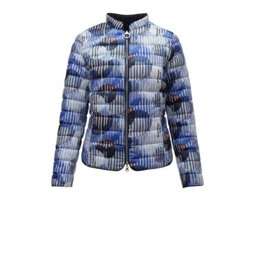 Blue/Navy Puffa Style Short Reversible Jacket by Barbar Lebek