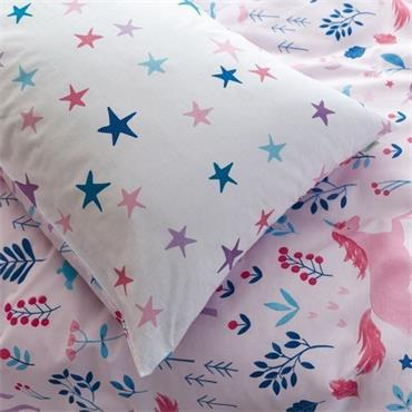 Woodland Unicorn & Stars Pink by Bianca