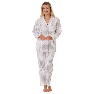 Marlon Print Wincey Pyjama Plum
