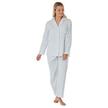 Marlon Print Wincey Pyjama Navy