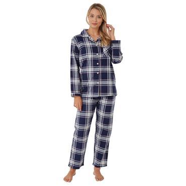 Indigo Sky Check Pyjama - Navy