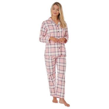 Indigo Sky Check Pyjama - Pink