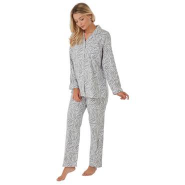 Zebra Wincey Pyjama Grey