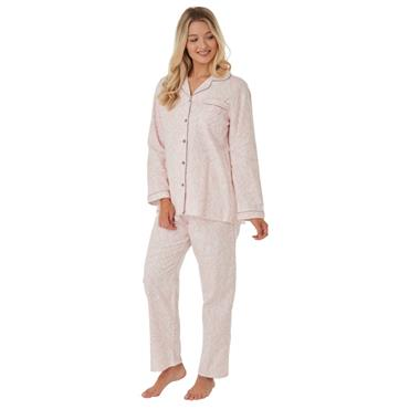 Zebra Wincey Pyjama Pink