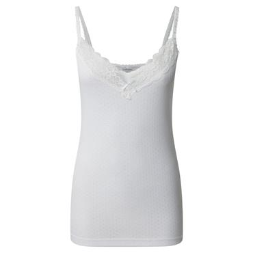 Ladies White Thermal Cami Top by Vedoneire