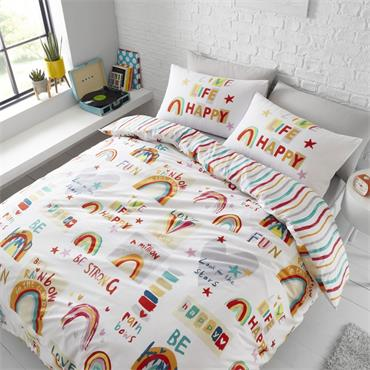 Be a Rainbow Duvet cover set by Catherine Lansfield