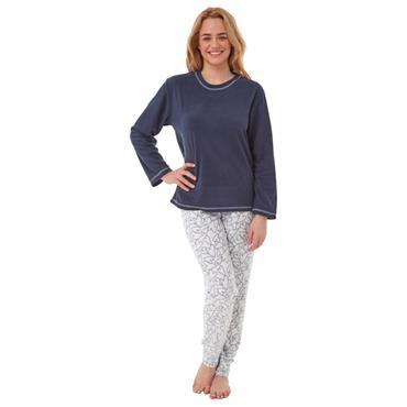 Heart Fleece Pyjama Navy