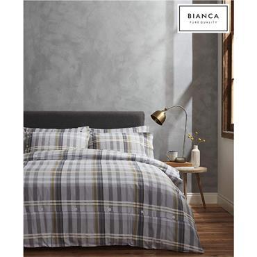 Bianca Campbell Brushed Cotton Grey Duvet set