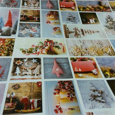 Christmas Season Images Oil Cloth