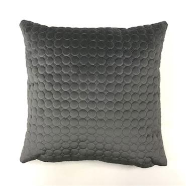 Grey Circles Patterned Cushion