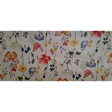 Floral Butterfly Oil Cloth