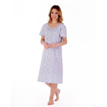 Slenderella Blue Paisley Night Dress