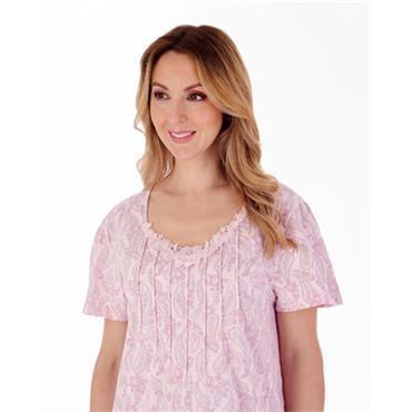 Slenderella Pink Paisley Night Dress