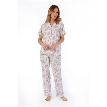 Slenderella Pink Floral Design Pyjamas